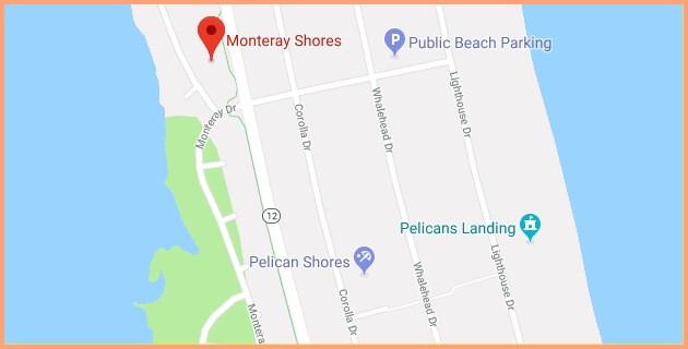 monteray shores location map